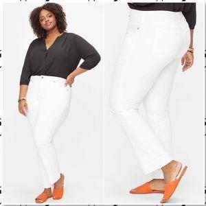 NWT NYDJ Marilyn Straight Jeans Optic White Plus